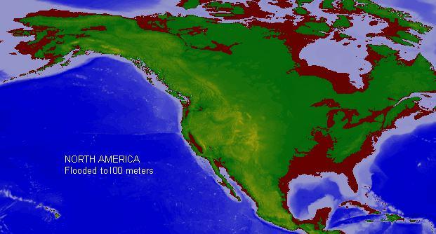 Flooded North America Map Ikwileenprentenboek - Map-of-flooding-in-us